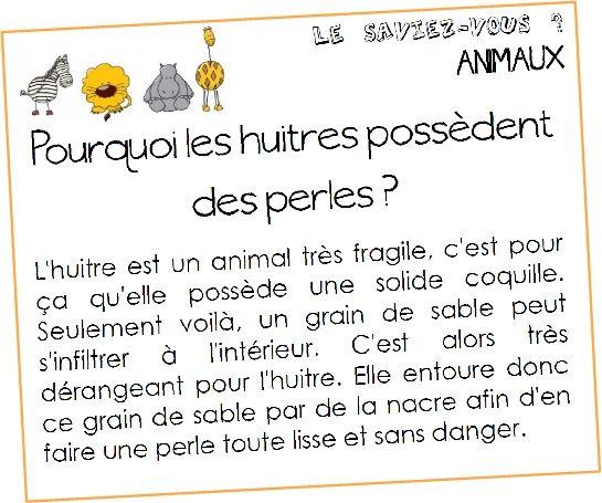 Le saviez-vous? (orphys)  animaux et traditions