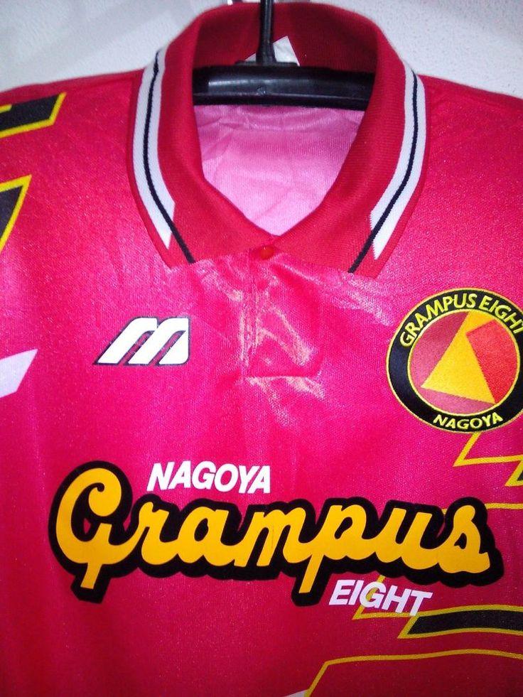 JAPAN VTG  MIZUNO  SHIRT NAGOYA GRAMPUS  TRIKOT  FOOTBALL TEAM MEN JASPO M #Mizuno #Japan