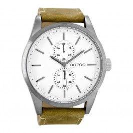 Koop dit OOZOO Timepieces Bruin/Wit Horloge C8510 horloge online in onze webwinkel.                     Dit is een heren horloge met een quartz uurwerk.                             De kleur van de kast is titanium en de kleur van het uurwerk is wit.                             De kast is gemaakt van rvs en de band van het horloge van leer.                                               Wij zijn officieel dealer van OOZOO horloges. Je ontvangt dus ook de standaard fabrieksga...