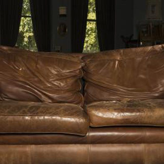 A dry, cracked leather couch can be restored using the right materials.