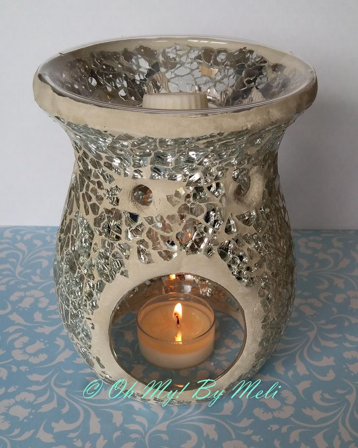 www.ohmybymeli.com These lovely glass mosaic tealight burners are a beautiful piece just on there own! With stunning colours combined with a tealight candle, light and colours just playfully dance across a dim room.    Recommended to use with an OM!BM natural soy tealight and OM!BM natural soy melt.