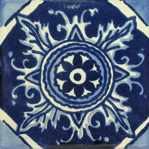 Traditional Spanish Decorative tile http://www.mexicantiledesigns.com/collections/traditional-decorative-tile/products/traditional-mexican-tile-boca-de-dragon
