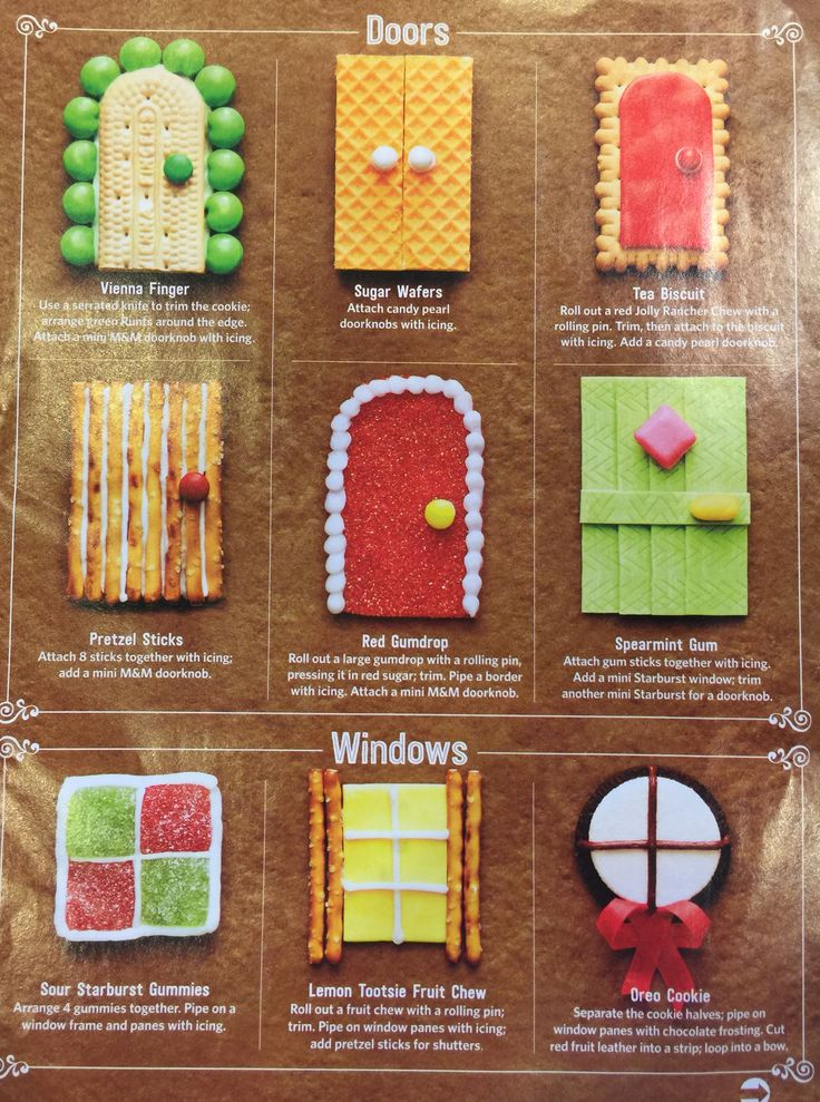 Gingerbread houses - doors and windows