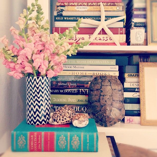 Books can be great room accessories even of you don't read much