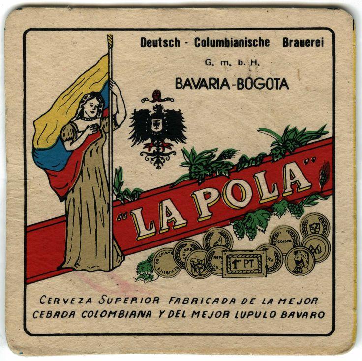 """Portavazo publicitario de la marca de cerveza """"La Pola"""" - Mediateca"""