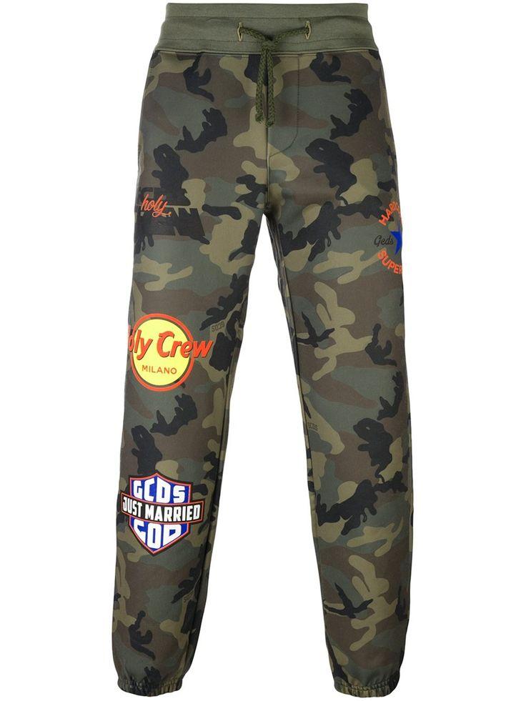 Gcds pantalon de jogging à motif camouflage