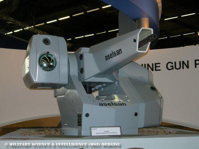 """ASELSAN üretimi olan """"SARP Uzaktan Komutalı Stabilize Silah Sistemi"""" hava ve kara tehtidlerine karşı üretildi.İhtiyaca göre sisteme istenilen silah takılabiliyor.Uzaktan kumanda edilebilmesi sayesinde personel güvenliğini üst düzeye çıkarıyor.Sisteme bomba atar ve makinalı tüfek takılabiliyor.  Sistemin Mermi kapasitesi  400 adet (12.7mm) 1000 adet (7.62mm) 96 adet (40mm)"""