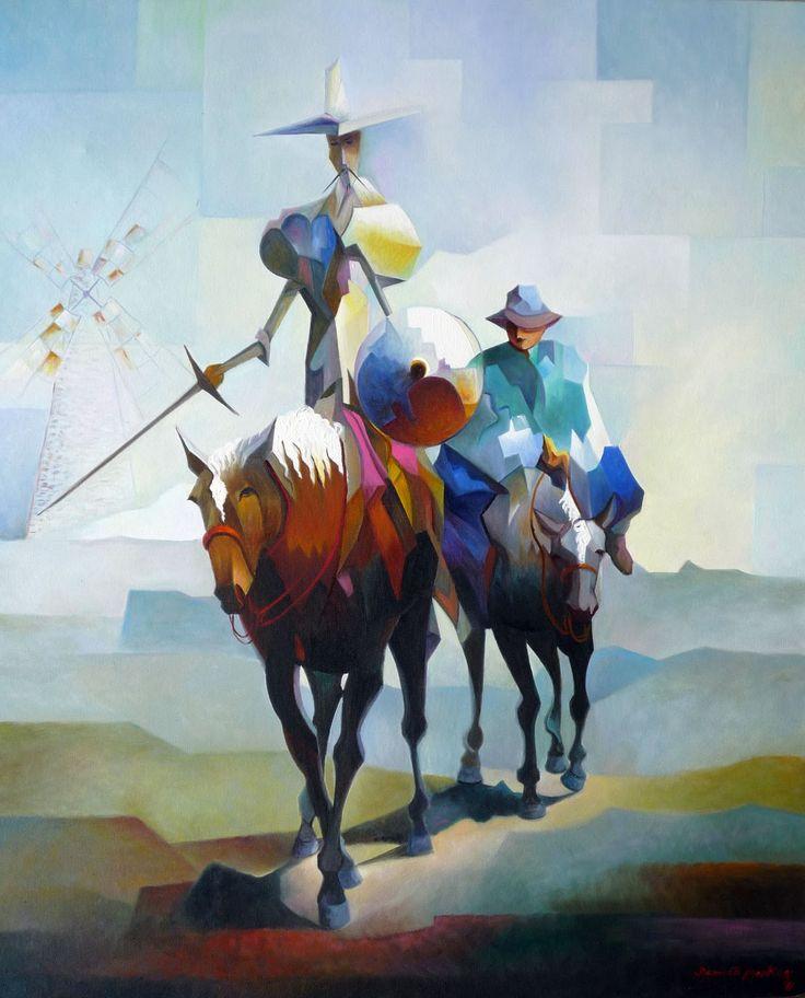 Don Quijote y Sancho Panza - Damiao Martins