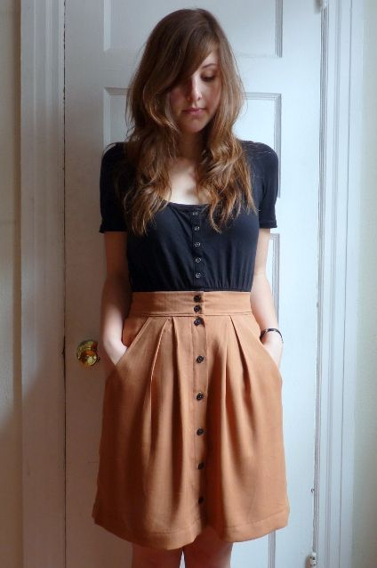 megan nielsen kelly skirt by four square walls