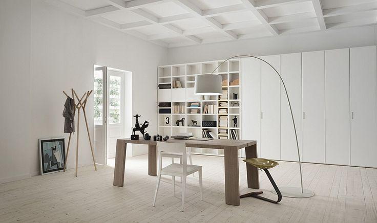 Side panels, back panels and doors in matt for the living room wall unit - Decoist