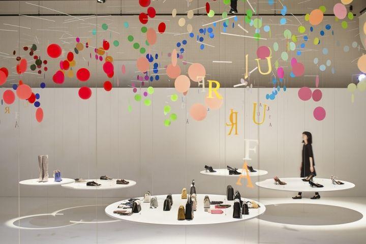 100 colors no. 5 DANCE Installation by Emmanuelle Moureaux for FURLA at Temple Zojoji, Tokyo – Japan » Retail Design Blog