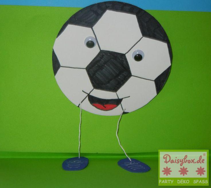 Fußball Kindergeburtstag Dekoration selber basteln