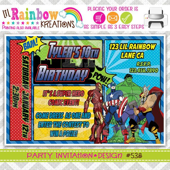 40 Best Avengers Party Images On Pinterest