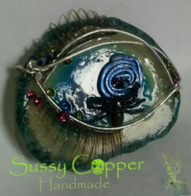 Ideal para broche o colgante.   Derechos de imagen y creacion de piezas de Sussy Copper. sussycopper@gmail.com