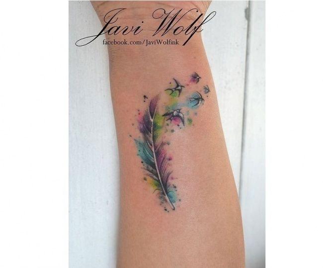 Pin By Arlena Switakowska On Pioro Tattoos Feather Tattoos Watercolor Tattoo Feather