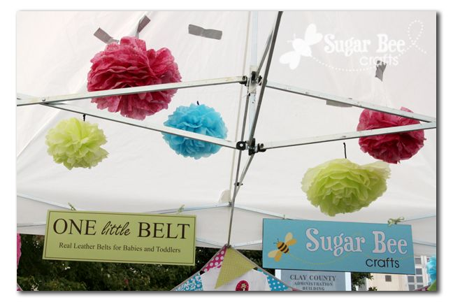 Craft Fair Booth - Set Up and Tips: Booths Display, Pompom, Craft Fair Booths, Crafts Fair Booths, Craft Fairs, Bee Crafts, Pom Pom, Bees Crafts, Sugar Bees