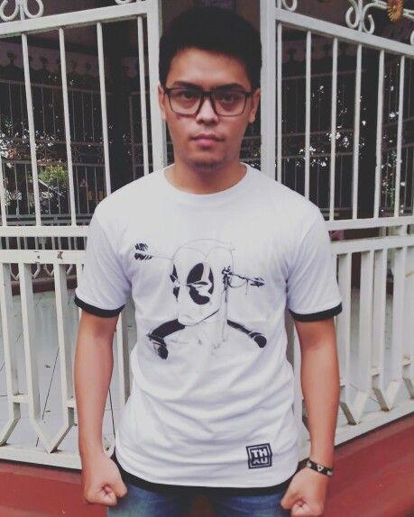 """Deadpool """"HUH?"""" T-shirt IDR 100.000 Sms/wa: 08126667888 Line: @dni3790z (pakai @) BBM: 5D38A524 Facebook: thxqcloth Instagram: thxq_cloth  #kaos #baju #deadpool #deadpooltshirt #tees #tshirt #bethankful"""