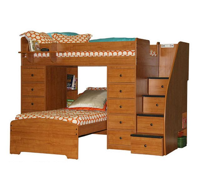 Berg Furniture Sierra Twin Space Saver L Shaped Bunk Bed with Stairs and  Storage  Twin over Twin. 61 best Bunk Beds and Youth Furniture images on Pinterest   Bunk