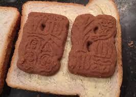 Speculaas on bread