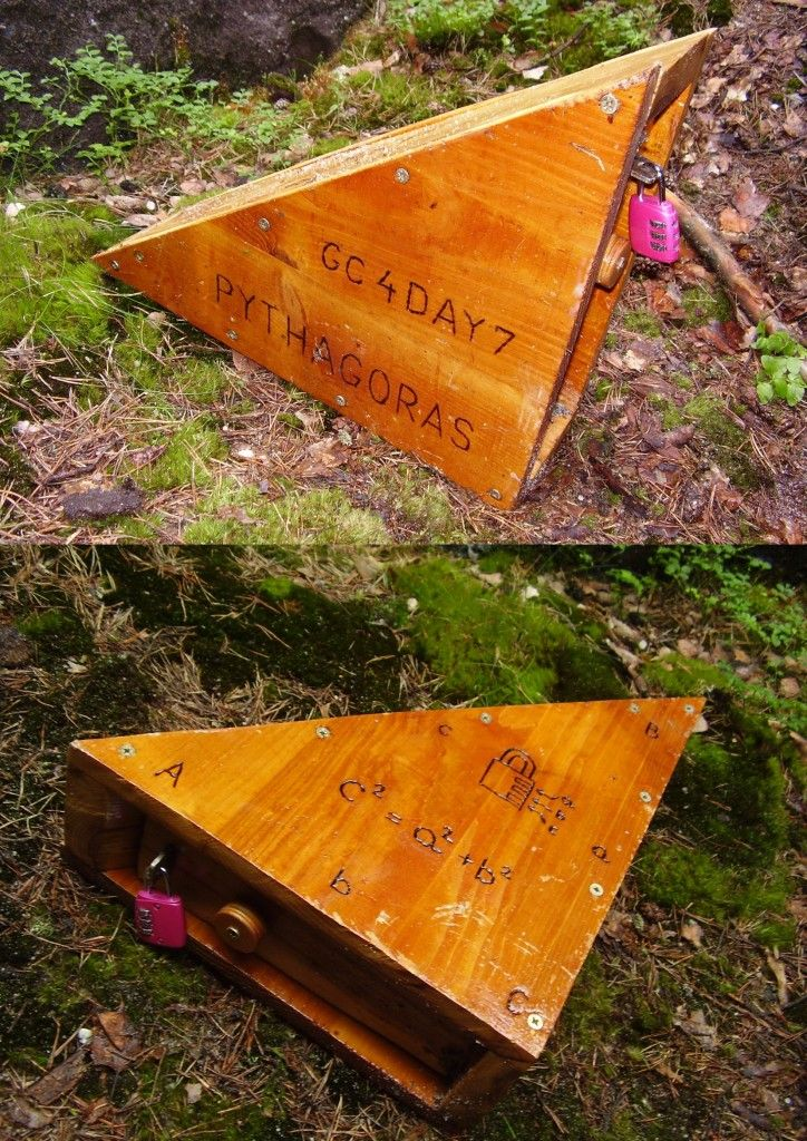 Brush up on your math skills.  — Pythagoras (GC4DAY7) — Geocache of the Week