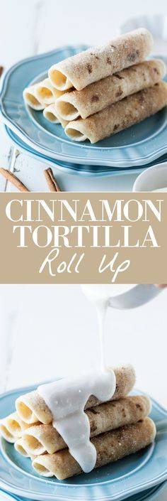 Cinnamon Tortilla Rollups! Only 4 ingredients and 1 minute of your time to make this quick, simple, and delightful dessert! Cinnamon Tortilla Rollups. Like a churro. But not.