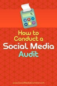 A social media audit will help you analyze the impact of your social media tactics.  In this article, youll discover how to perform an audit of your social media channels.