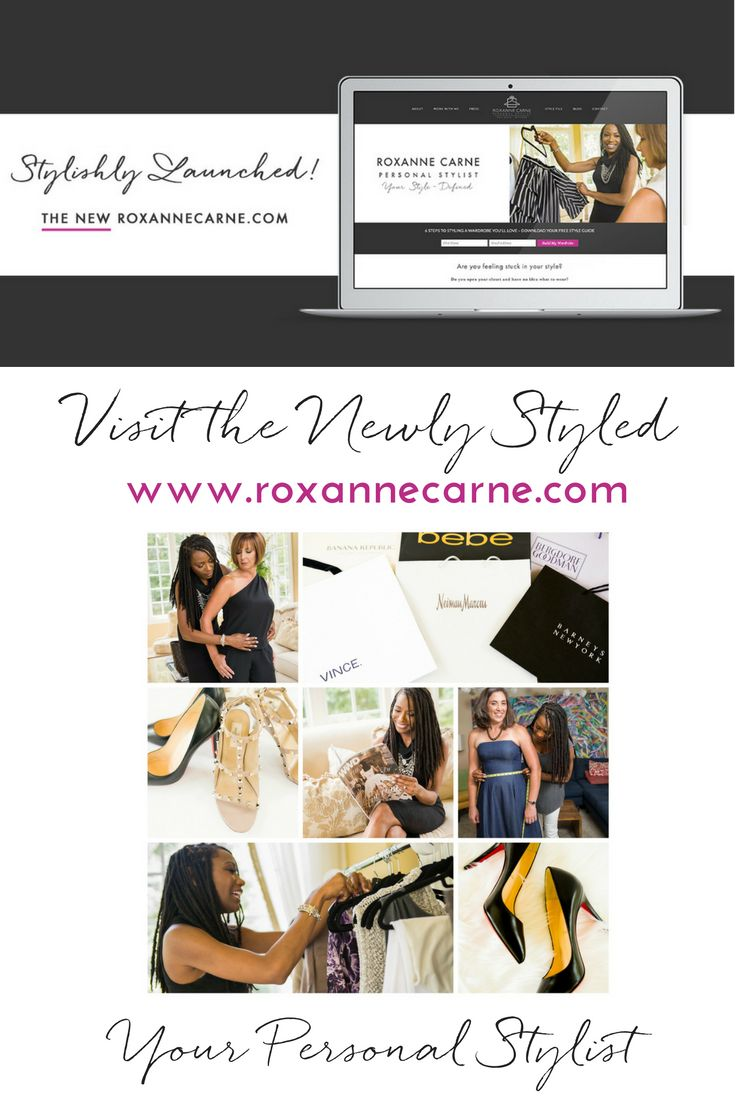 Keeping my clients stylish is my top priority, but I've got to keep up too! ;)  I'm proud to unveil my newly styled website at http://www.roxannecarne.com/?utm_campaign=coschedule&utm_source=pinterest&utm_medium=Roxanne%20Carne%20%7C%20Personal%20Stylist.  Stop on by and have a look!  Learn more about my passion for fashion and dedication the help women uncover and define their personal style!  #personalstylist #roxannecarnerpersonalstylist #newyearnewyou #newyearnewme #style #fashion…