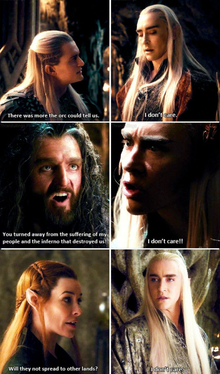 Thranduil doesn't care about your problems. >>>> As much as I love Thranduil, this is actually true.