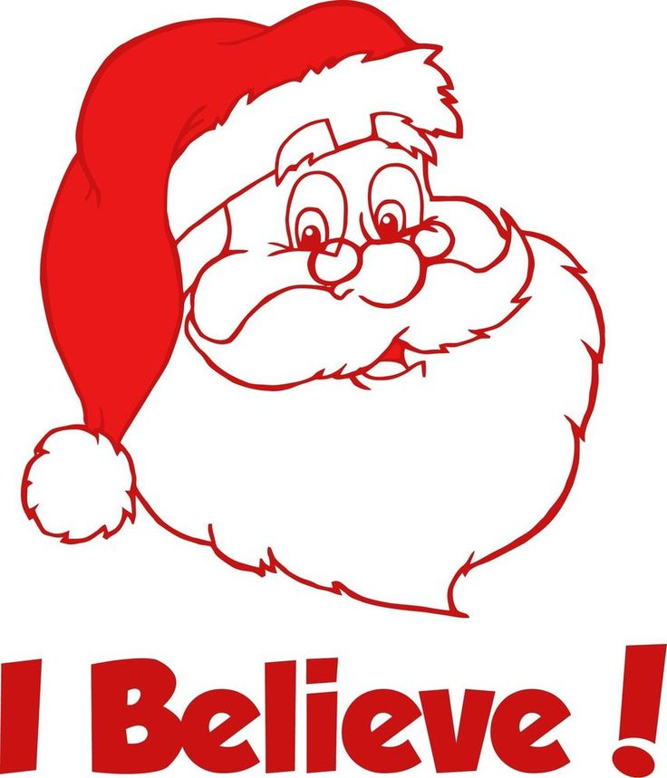 Believe sticker santa car window vinyl decal god church jesus christmas xmas