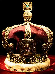 StateThe Imperial Crown of India was created when King George V visited Delhi as Emperor of India. To prevent the pawning of the Crown Jewels, British law prohibited the removal of a Crown Jewel from the country. For this reason, a new crown was made. It has not been used since.