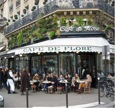 Cafe' de Flore is a well established Paris institution