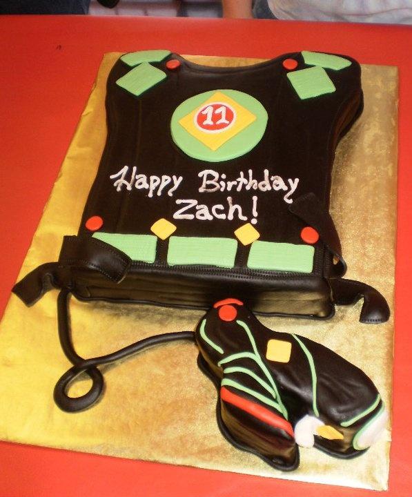 Laser Tag vest cake
