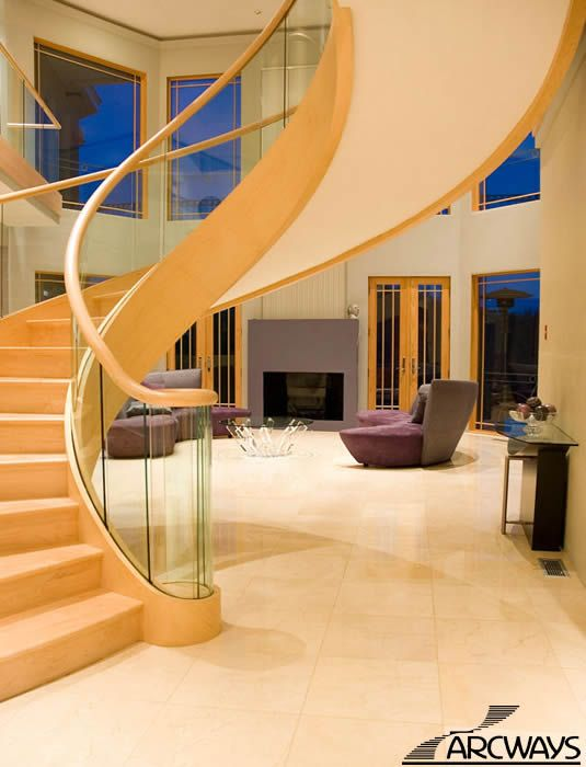 Foyer Staircase Quest : Best ideas about curved staircase on pinterest foyer