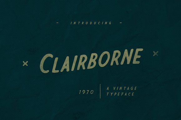 Clairborne Typeface - Display