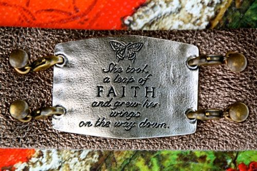 """Leap of Faith"" Wide Cuff Bracelet."