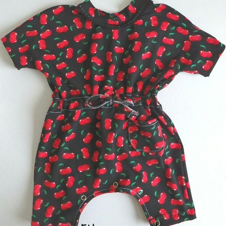 Super cute cherry romper for babygirl! Only one piece available and it's ready to ship!