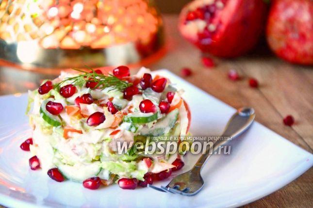Овощной салат с гранатом рецепт с фото, как приготовить на Webspoon.ru