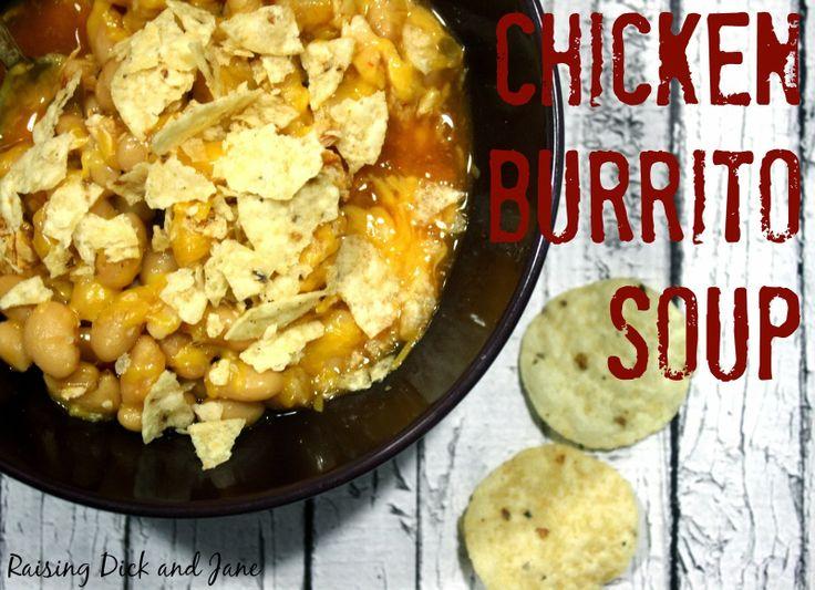 Crockpot Chicken Burrito Soup - It's thick like a chili!