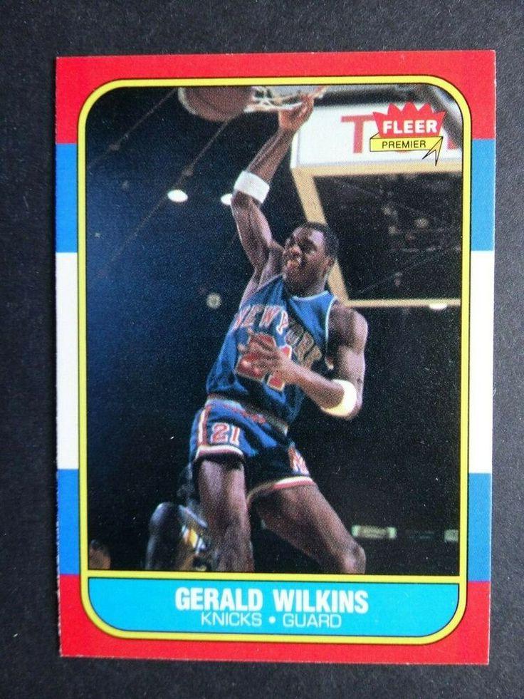 198687 fleer 122 gerald wilkins new york knicks rookie