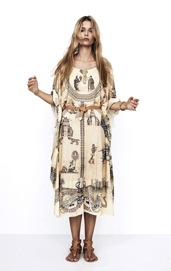 lostinfiber:   Hungarian label, Nanushka's Spring/Summer 2013 'Story Print Dress'  the poetry of material things