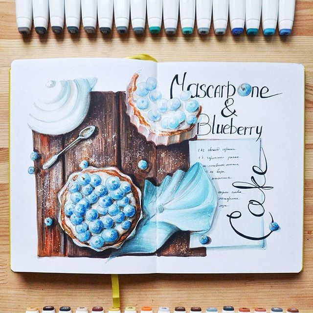 #cake #food #foodsketch выйцвет