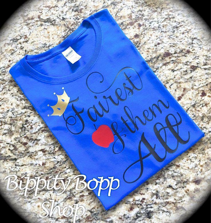 Fairest of Them All Ladies/Girls Shirt Royal Blue by BippityBoppShop on Etsy https://www.etsy.com/listing/548228045/fairest-of-them-all-ladiesgirls-shirt