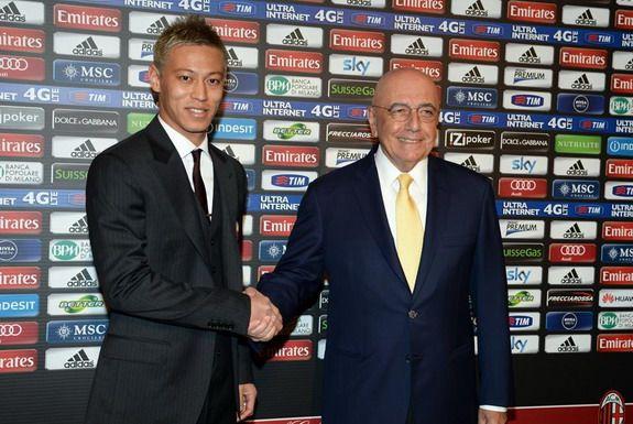 AC Milan present new signing Keisuke Honda