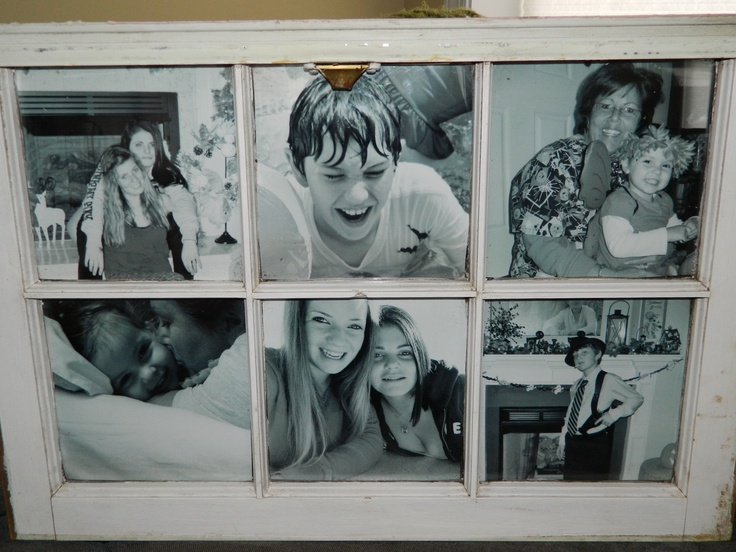 I bought this window frame on sisters weekend at an shop in NewBern.  I put the childrens pictures in it.  Love the Black and white photos