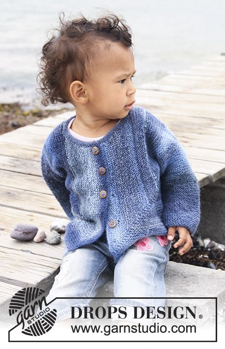 dbb6ce13f Tamzyn   DROPS Baby 20-15 - Knitted domino jacket in garter st for ...
