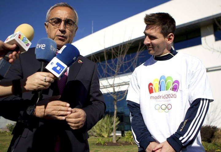 Messi apoya la candidatura de Madrid 2020