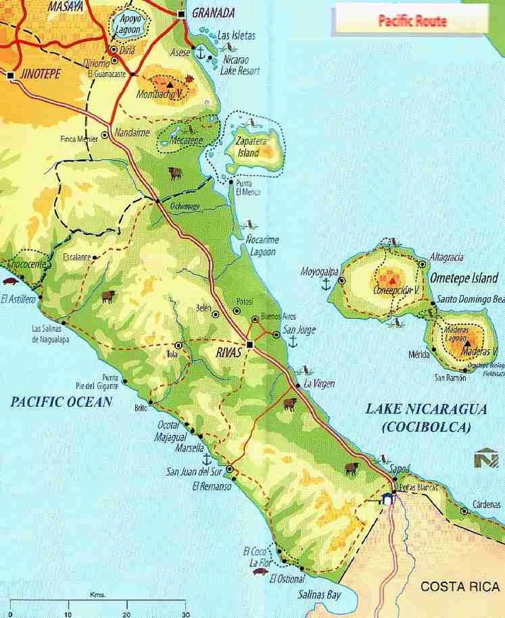 Best Ometepe Island Images On Pinterest Ometepe Central - Nicaragua map hd