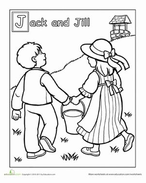 jack and jill nursery rhyme coloring page - 17 best images about nursery rhyme crafts on pinterest