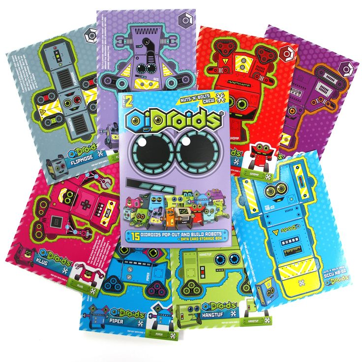 OiDroids Nuts 'n' Bolts Crew Set 2 pack and cards