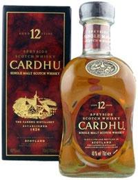 cardhu whisky bottle
